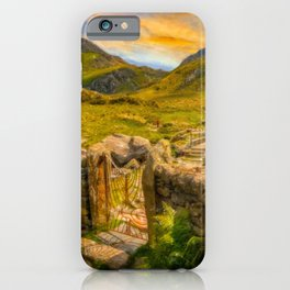 Gate to Snowdonia Wales iPhone Case