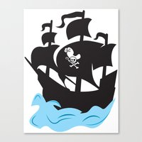 pirate ship Canvas Prints featuring Pirate Ship by Anthony Rocco