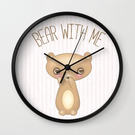 Bear With Me - Creepy Cute Teddy Wall Clock