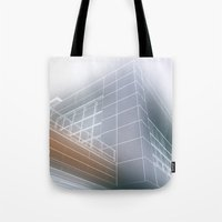 architect Tote Bags featuring Minimalist architect drawing by Solar Designs