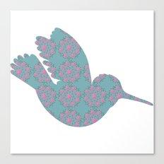 pattern with hummingbird Canvas Print