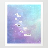 the fault in our stars Art Prints featuring the fault in our stars by Kate