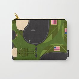 Cartoon Air Force Fighter Pilot Pattern Carry-All Pouch