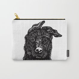 Dog linocut Carry-All Pouch