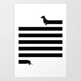 (Very) Long Dog Art Print