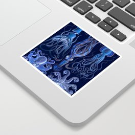 Haeckel Octopi Sticker