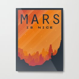 MARS Space Tourism Travel Poster Metal Print