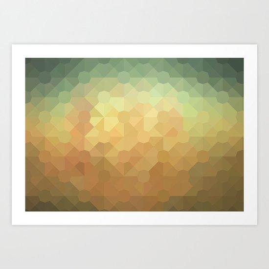 Nature's Glowing Geometric Abstract Art Print