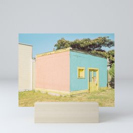 Pastel storage house Mini Art Print