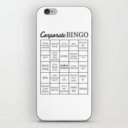 Corporate Jargon Buzzword Bingo Card iPhone Skin