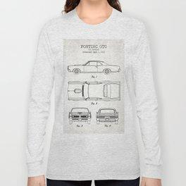 Pontiac GTO old canvas Long Sleeve T-shirt