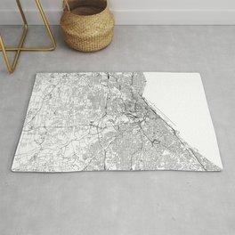 Cleveland White Map Rug
