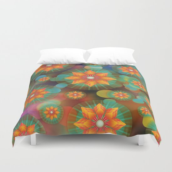 Lovely Floral Pattern Duvet Cover