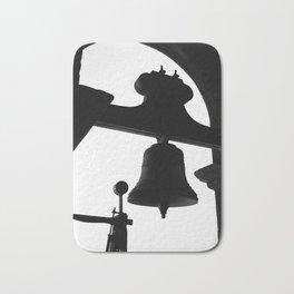 Church bell silhouette Bath Mat