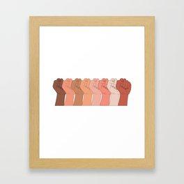 Female Power Pattern 6 Framed Art Print