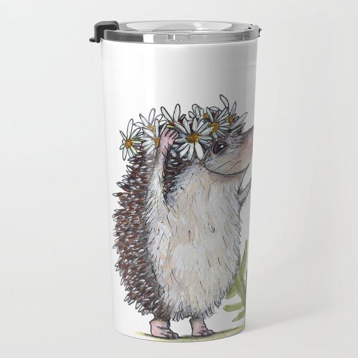 Hedgehog & Dandelion Travel Mug
