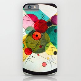 Kandinsky Circles in a Circle iPhone Case