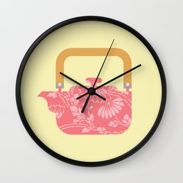 Japan Teapot Spring Wall Clock