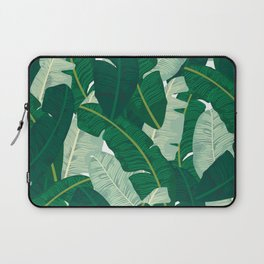 Classic Banana Leaves in Palm Springs Green Laptop Sleeve