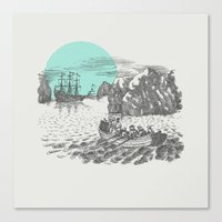 pirates Canvas Prints featuring Pirates by Zeke Tucker