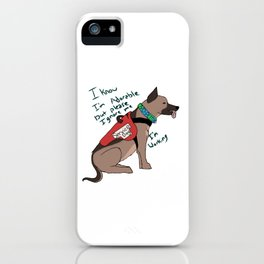 Service dog Ignore me I'm working iPhone Case