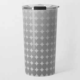 White Circles Travel Mug