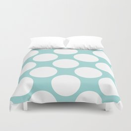 Polka Dots Blue Duvet Cover