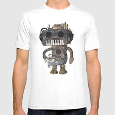 Musicbot Mens Fitted Tee White MEDIUM