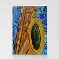 saxophone Stationery Cards featuring Saxophone  by gretzky
