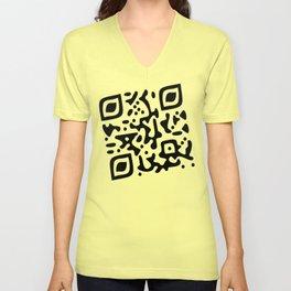 QR Clothes Yellow Unisex V-Neck
