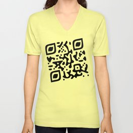 QR Clothes Yellow Unisex V-Neck