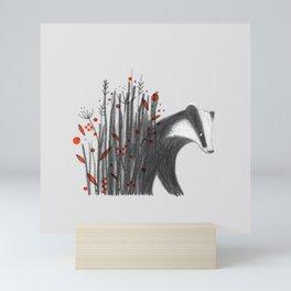 Badger Mini Art Print