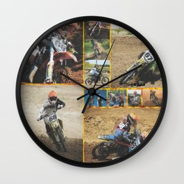 Motocross Collage Wall Clock