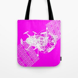 Explorer White on Pink Tote Bag