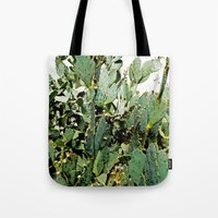 cacti Tote Bags featuring Cacti by PoseManikin