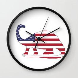 "Brontosaurus ""American Flag"" Wall Clock"