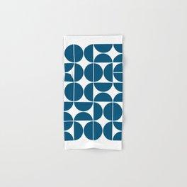 Mid Century Modern Geometric 04 Blue Hand & Bath Towel