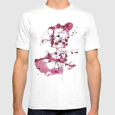 Spotted kitty fawn Mens Fitted Tee White MEDIUM