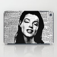 marilyn iPad Cases featuring Marilyn  by Saundra Myles