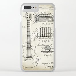 Patent 1955 Gibson Les Paul Guitar Designed By T. McCarty Clear iPhone Case