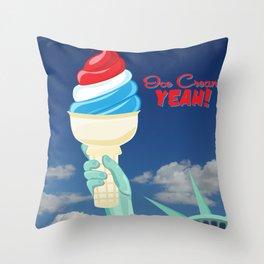 Ice Cream YEAH! Throw Pillow