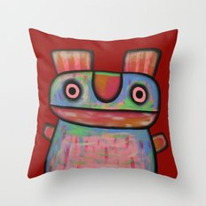 Rabbit work out Throw Pillow