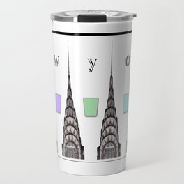 Chrysler New York Mug with Color Travel Mug