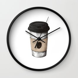 Coffee To Go Wall Clock