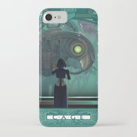 bioshock infinite iPhone & iPod Cases featuring Art Nouveau Bioshock Infinite - Elizabeth and Songbird by Sabtastic