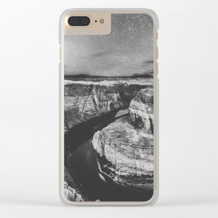Southwest Starry Night Black and White Clear iPhone Case