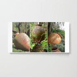 Urns Triptych Metal Print