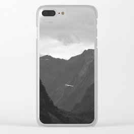 Flight entering Milford Sound New Zealand South Island Clear iPhone Case