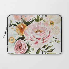 Loose Peonies & Poppies Floral Bouquet Laptop Sleeve