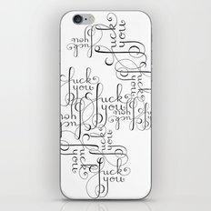 Cursive Cursing iPhone & iPod Skin